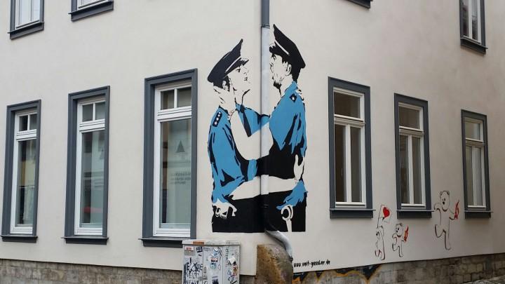 Homophobe Schmierereien in Erfurt